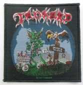 Tankard - 'One Foot in the Grave' Woven Patch